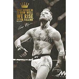 Conor McGregor quote Zitat Foto gedrucktes Poster – aufgedruckte Unterschrift – 12×8 inches (30×20 cm) – We Rise