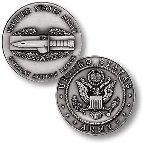 Combat Action Badge Challenge Coin by Northwest Territorial Mint