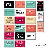 20 Postkarten mit Sprüchen I dv_187 I DIN A6 I Spruch-Karten Set lustig witzig Zitate Deko Liebe Freundschaft Motivation für Bilderrahmen