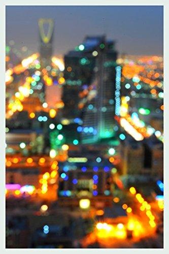 Bild mit Rahmen Hady Khandani - RIYADH BLURR - SAUDI ARABIA - Digitaldruck - Holz silber, 30 x 45cm - Premiumqualität - HADYPHOTO, Fotografie, Photografie, Vorderasien, Saudiarabien Panorama, Stadt, Riad, .. - MADE IN GERMANY - ART-GALERIE-SHOPde