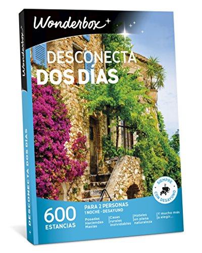 WONDERBOX Caja Regalo -DESCONECTA Dos DÍAS- 600 estancias Rurales para Dos Personas en haciendas, masías, Casas Rurales inolvidables, hoteles en Plena Naturaleza