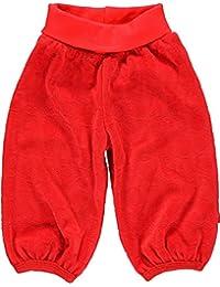 Fixoni fille pantalon taille élastique en velours, Babytales, rouge vif, 31616