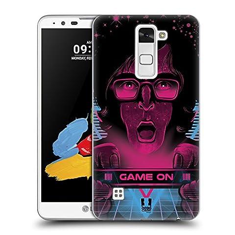 Head Case Designs Spieler Das 80S Grafik Ruckseite Hülle für LG Stylus 2