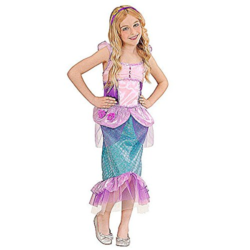 Widmann WID02237 - Costume per Bambini Sirenetta, Multicolore, 140 cm/8-10 Anni