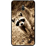 Fancy A Snuggle Raccoon Cover/Custodia per Nokia cellulari, PLASTICA, Raccoon, Nokia Lumia 1320