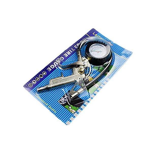 Unicoco Pistola Infladora Manómetro Medidor de Presión para Neumáticos Calibredor Indicador de Presión de Ruedas Llantas…