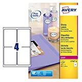 Avery L7769-40 Farblaser-Etiketten 4 Etiketten pro Blatt 139 x 99,1 mm 160 Stück