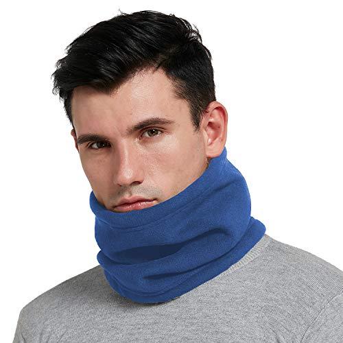 Hgdgears cappello scaldacollo pile termico invernale moto ciclismo sci snowboard sport neck warmer for donna uomo (blu)