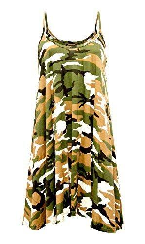 Vestido para Mujer con Estampado de Cami, Chaleco sin Mangas Camuflaje Army # Cami Vestido # pequeño/Mediano...