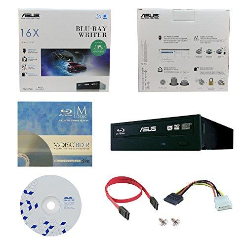 ASUS BW-16D1HT 16X Blu-Ray BDXL M-DISC CD DVD Bluray interno Quemador