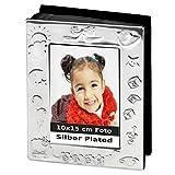 silberkanne Kinderalbum Baby für 10x15cm Foto Silber Plated versilbert in Premium Verarbeitung