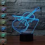 Best Neón Lámparas de mesa - Violín Regalo de cumpleaños 3D Illusion Night Light Review