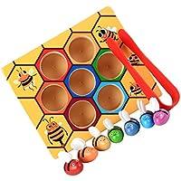 Blesiya Juguetes Montessori de Madera de Caja de Clip de Abeja Multicolor Regalo de Fiesta de Cumpleaños para Niño