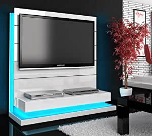 tv wand paneel element wei hochglanz mit tv halterung k che haushalt. Black Bedroom Furniture Sets. Home Design Ideas