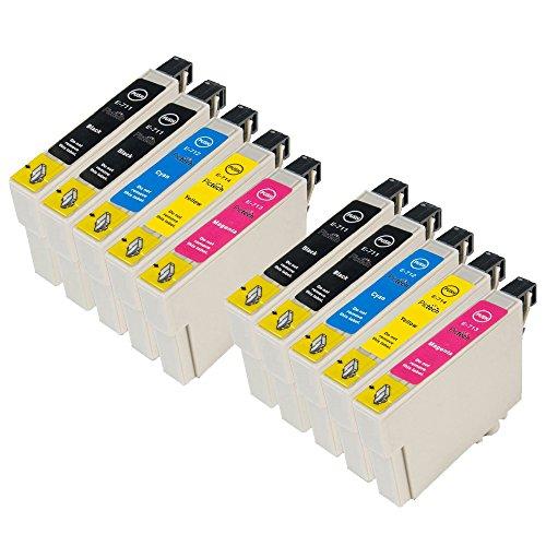 ZR-Printing Ersatz für Espon T0711 T0712 T0713 T0714 Druckerpatronen Hohe Kapazität Kompatibel mit für Epson Stylus SX105 SX210 SX218 SX400 DX4000 DX4400 DX6000 DX6050 DX8450 BX300F (4 schwarz, 2gelb, 2cyan, 2magenta)
