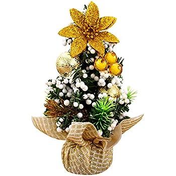 OuYou Mini Sapin de No/ël Arbre Artificiel 20cm Petit D/écoration Cadeau Decor Ornement Table Maison F/ête