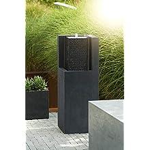 Esteras 8512117387 Fountainslite Stone Garden Fountain, Apuro 87, black, 32 x 32 x 87 cm