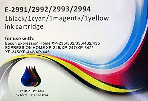 29XL Tintenpatronen-Set, kompatibel mit Epson Express Home XP-235, XP-332, XP-335, XP-432, XP-435, 4 Stück