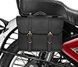 #9: RIDAR Bike High Quality Handbag Style Side Saddle Bag Black for Royal Enfield Thunderbird 350 T-1