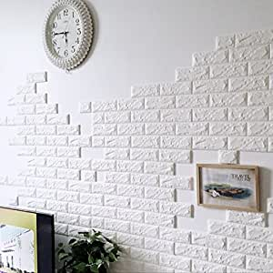 Buy rrimin new pe foam wall stickers 3d wallpaper diy wall for Room decor 3d foam stickers