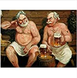 WACYDSD Pintura por Números Cerveza De Sauna Viejo Pintura Al Óleo Pintada A Mano DIY para Las Ilustraciones Caseras De La Decoración De La Pared Sin Marco
