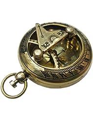 Push Button Brass Pocket Compass