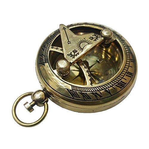 Push Button Brass Pocket Compass Test