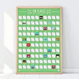 Gift Republic 100Lugares-Scratch Off Cubo Lista Póster, Verde