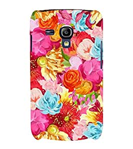 PINK FLORAL PATTERN 3D Hard Polycarbonate Designer Back Case Cover for Samsung Galaxy S3 Mini :: Samsung Galaxy S3 Mini i8190