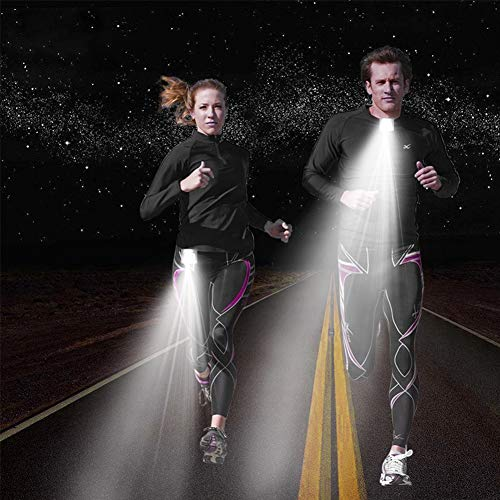 XuBa LED-Leuchte für den Außenbereich, mit USB-Ladefunktion, Sicherheits-Licht zum Anklemmen von LED-Nachtlicht für Läufer, Fahrrad, Jogger, Komping, Angeln, Klettern -