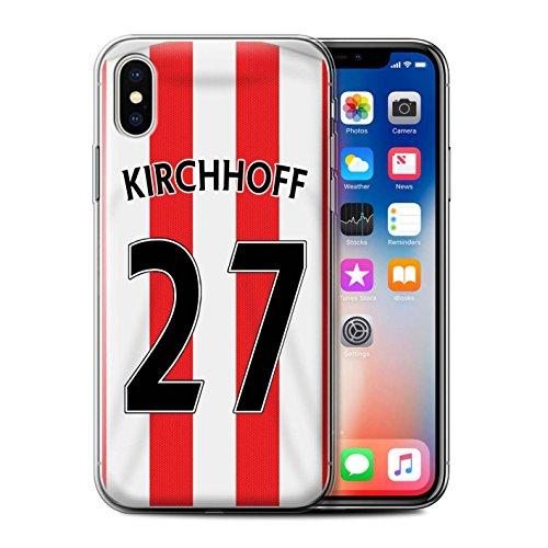 Offiziell Sunderland AFC Hülle / Gel TPU Case für Apple iPhone X/10 / Kone Muster / SAFC Trikot Home 15/16 Kollektion Kirchhoff