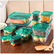 17pcs/set Kitchen Microwave Oven Refrigerator Seal Food Storage Box Container Clear Plastic Container Storage (Color : 17pcs