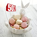 Schale aus Porzellan Hasen Design Für Müsli, Gebäck, Nüsse, Dessert, Salat AUSVERKAUF
