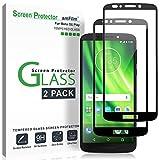 Moto G6 Play Screen Protector Glass (2 Pack), amFilm Full