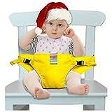Der waschbare tragbare Reise Hochstuhl Booster Babysitz mit Riemen Kleinkind -Sicherheitsgurt-Baby den Gurt Dining Chair Belt (6 Farbe) Einspeisen (gelb)