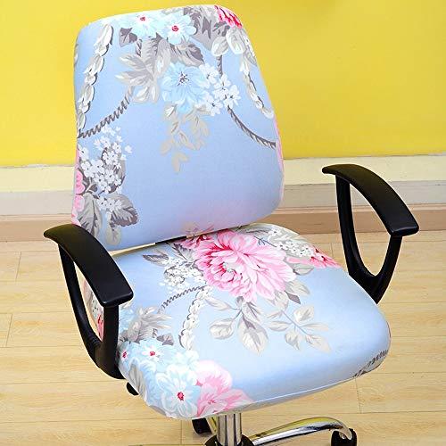 (ZLULU Stuhl-Bezug Stuhlhussen Bürocomputer Elastische Stuhlabdeckung Zwei Sätze Von Stuhlabdeckung Chef Stuhlabdeckung Sitzabdeckung, D)