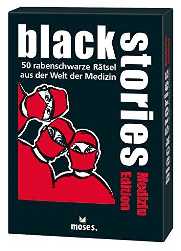 black stories - Medizin Edition: 50 rabenschwarze Rätsel aus der Welt der Medizin (Spiel Arzt)
