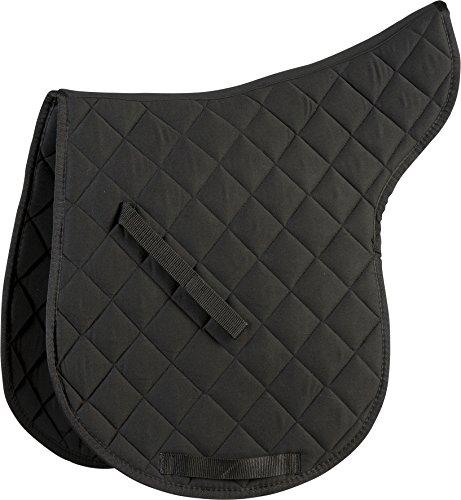 Satteldecke aus Baumwolle, schwarz, Warmblut