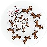 Alessi AMGI49 Christmas Spiral Gebäckplatte aus Porzellan mit Dekor 32 cm Durchmesser