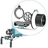 Neewer Follow Focus ajustable Gear Anillo Cinturón para cámaras réflex digitales como Nikon, Canon, Sony/DV/videocámara/película/Cámaras de vídeo, compatible con soportes de hombro, estabilizadores, película Rigs, todos los 15mm Rod soportes
