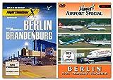 BUNDLE -- Mega Airport Berlin-Brandenburg - für Flight Simulator X & P3D(V2) - & - DVD: Harry's Airport Special Berlin - Tegel, Tempelhof & Schönefeld