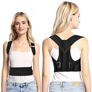 Haltungskorrektur Doact Geradehalter zur Haltungskorrektur Rücken Schulter Verstellbar Atmungsaktiv Rückenbandage Rückenhalter Haltungskorrektur für Damen und Herren