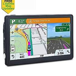 GPS Navigation for Car, 7 inch SAT NAV Lifetime Map Update Spoken Turn-to-Turn Navigation System for Cars