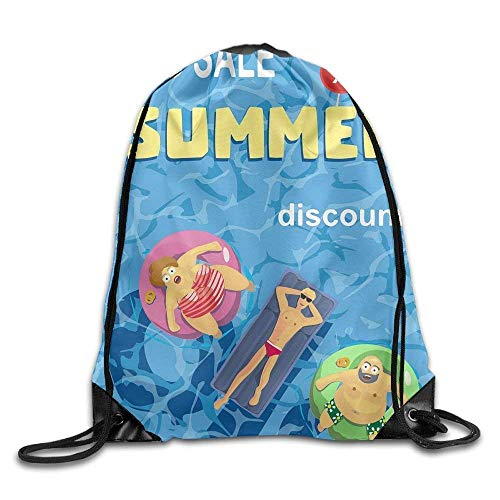 r Discount Drawstring Backpack Travel Bag Gym Outdoor Sports Portable Drawstring Beam Port Backpack for Girl Boys Woman Female ()