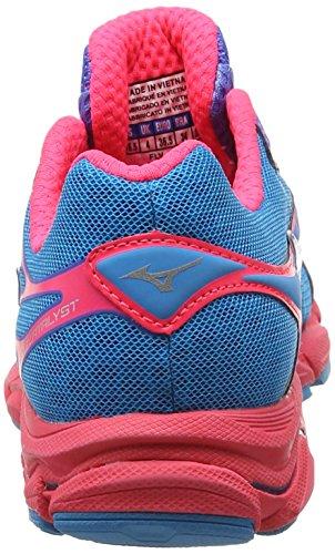 Mizuno Wave Catalyst Damen Laufschuhe Blue (Atomic Blue/White/Diva Pink)
