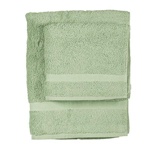 Asciugamano e ospite COGAL in spugna 650 grammi colore Verde Canna 074
