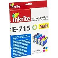 Inkrite Ink 4 Col Pack for D78 D92 D120 DX4000 DX5000 DX6000 - T071540 (Leopard)