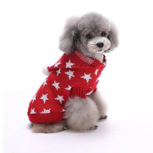 Hund Wintermantel Haustierjacke Warm Wasserdichte Welpen Kapuzenpulli Rote LNAG , (Kostüm Der Roten Mantel Britischen)