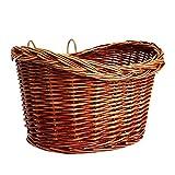 Fahrradkorb aus Weidengeflecht im Vintage-Stil, Einkaufs- und Haustierkorb, für Lenker, A