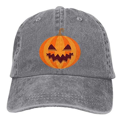 Xdevrbk Halloween's Pumpkin Unisex Washed Adjustable Vintage Cowboy Hat Denim Baseball Caps Fashion9 (Kangol-hüte Camo)